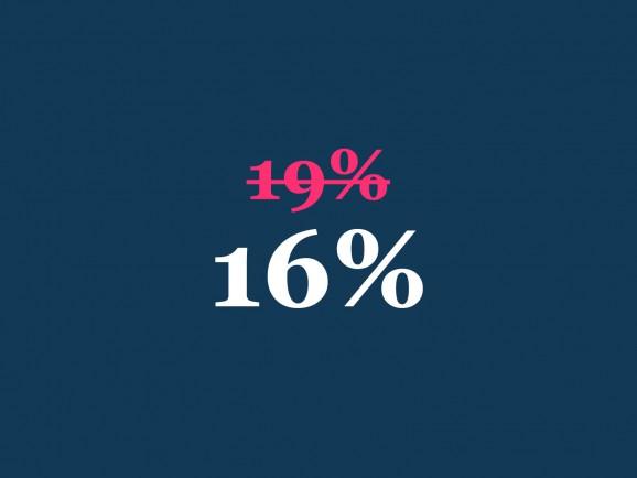 Wir geben die Mehrwertsteuersenkung an Sie weiter!